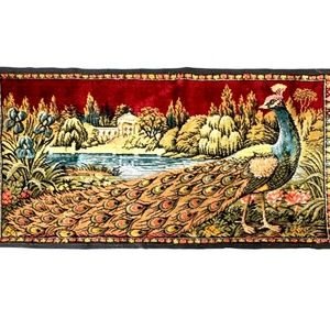 Vintage Peacock Wall Tapestry Rug Pillow Boho